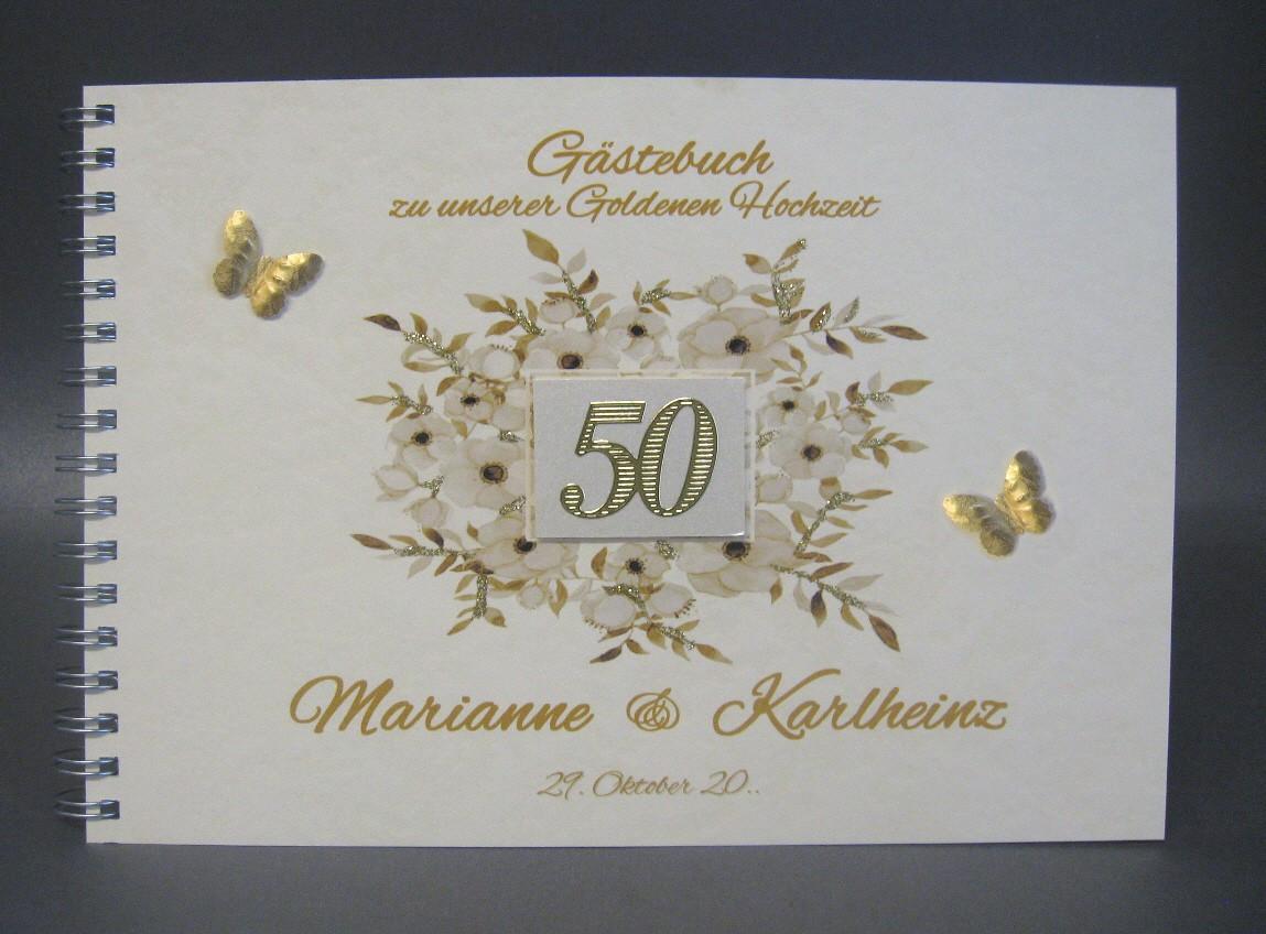 Gästebuch Zur Goldenen Hochzeit 12800