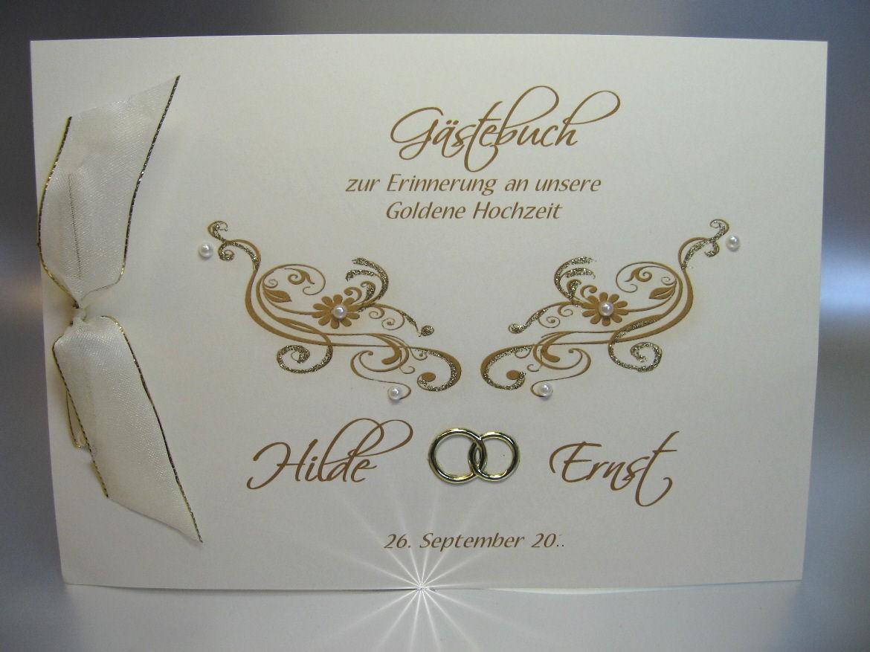 Gästebuch Zur Goldenen Hochzeit 12809