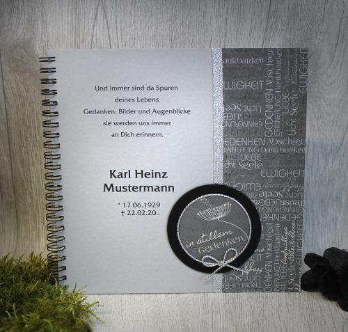 """Kondolenzbuch für einen besonderen Menschen 15026 /""""Engel/""""/"""""""