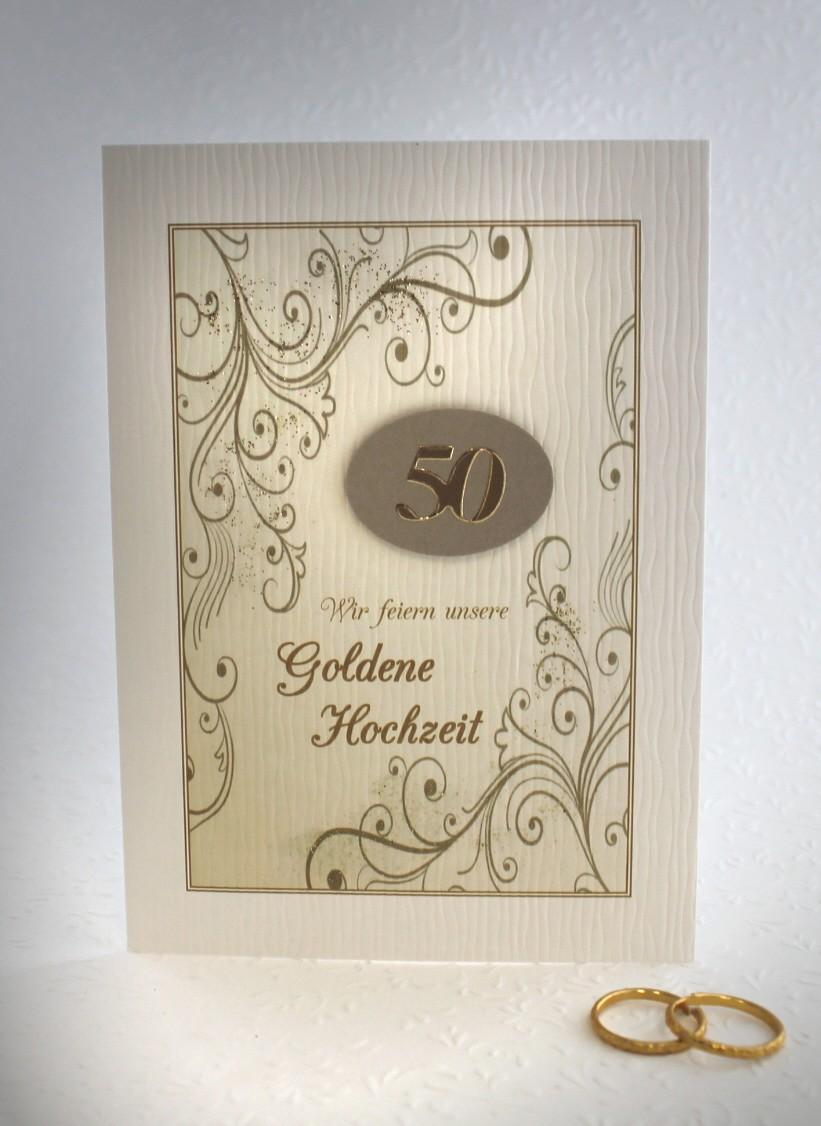 Einladungskarte Zur Goldenen Hochzeit Incl Umschlag Einlegeblatt 96000