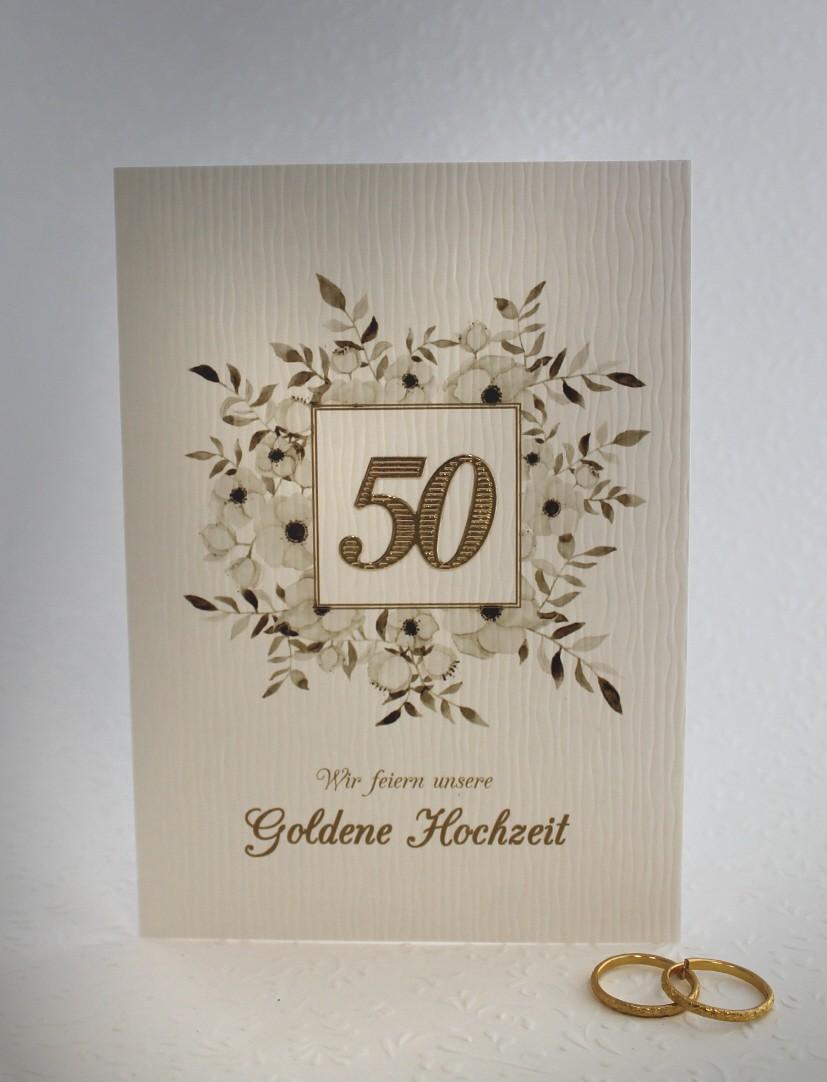 Einladungskarte Zur Goldenen Hochzeit Incl Umschlag Einlegeblatt 96002