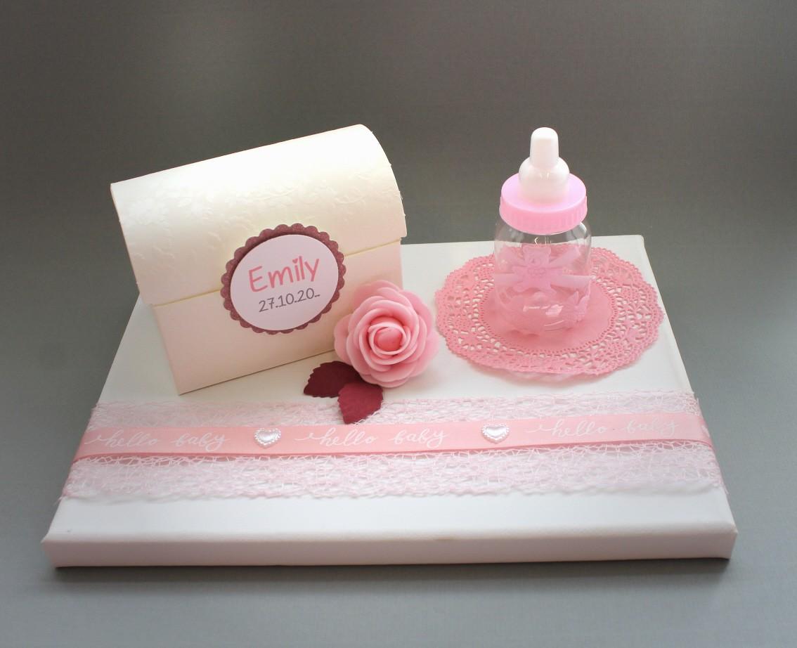 Geldgeschenk Zur Taufe Oder Geburt Rosa 70072