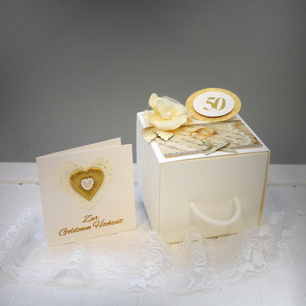 Geldgeschenk Zur Goldenen Hochzeitdie Besondere Verpackung Incl Glückwunschkärtchen Design 71104